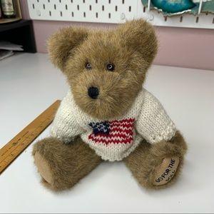 The Bodys bears boy Americana knit sweater flag